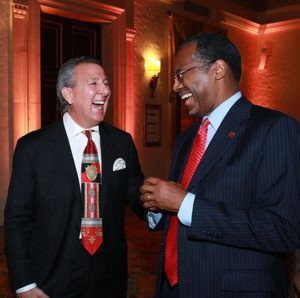 Ben Carson and me laughing - Copy